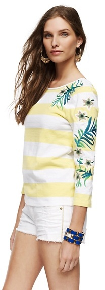 Juicy Couture Hibiscus Stripe Top