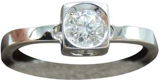 Dinh Van Le Cube Diamant white gold ring