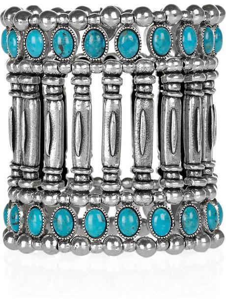 Philippe Audibert Silver-plated turquoise cuff