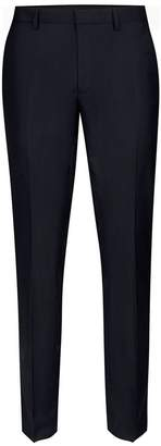 Topman Navy Twill Skinny Fit Suit Trousers