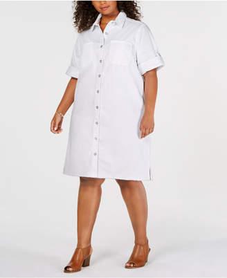 Plus Size Shirt Dress Shopstyle