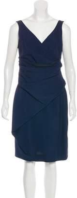 Lela Rose Silk Draped Dress