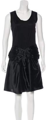 Christian Dior Bow-Accented Silk Dress