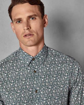 Ted Baker PARSNIP Sunflower print cotton shirt