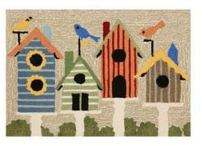 Liora Manné Frontporch Birdhouses Indoor and Outdoor Rug