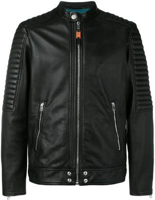 Diesel Panelled leather biker jacket