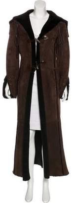 Patrizia Pepe Shearling Long Coat