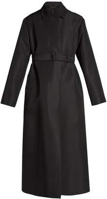 The Row Luster tie-waist canvas coat