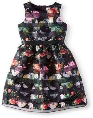Us Angels Lavender by Embroidered Hem Occasion Dress (Little Girls)