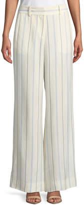 Derek Lam 10 Crosby Striped Wide-Leg Pants