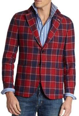 Gant Plaid 3/2 Roll Sportcoat