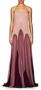 J. Mendel Women's Colorblocked Silk Strapless Gown-Lavender