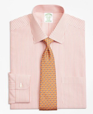 Brooks Brothers Stretch Milano Slim-Fit Dress Shirt, Non-Iron Music Stripe