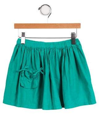 Bonton Girls' Fluted Corduroy Skirt