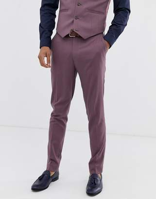 Asos Design DESIGN wedding skinny suit trouser in lavender
