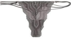 Cosabella Low-Rise Scalloped Crochet Thong