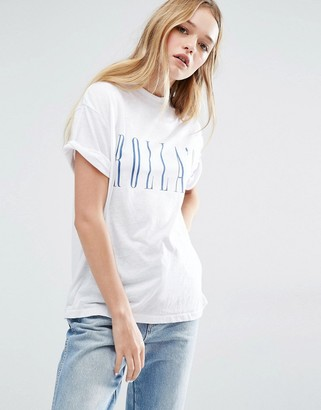 Rollas Rolla's Slouch Logo T-Shirt $57 thestylecure.com