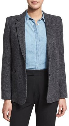 Vince Wool-Blend Two-Button Blazer, Charcoal $545 thestylecure.com
