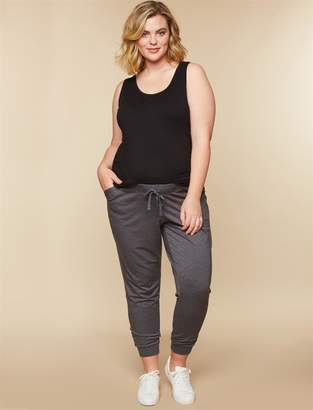 Motherhood Maternity Plus Size Under Belly French Terry Jogger Maternity Active Pants