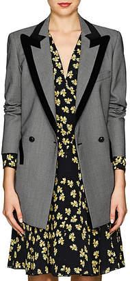 BLAZÉ MILANO Women's Everyday Velvet-Trimmed Birdseye Wool Blazer - Gray