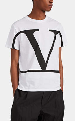 Valentino Men's Logo Cotton T-Shirt - White
