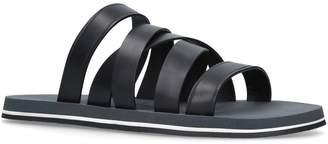 Dan Ward Leather Asymmetric Strap Slides