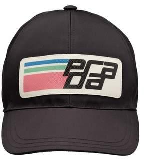 Prada Nylon Logo Baseball Cap d13bd3f05142