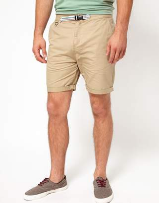 Asos Design Chino Shorts With Belt