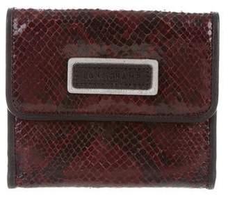 Longchamp Embossed Leather Bifold Wallet