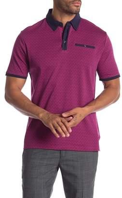 English Laundry Geometric Colorblock Polo Shirt