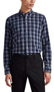 Brooklyn Tailors BROOKLYN TAILORS MEN'S PLAID BRUSHED COTTON BUTTON-DOWN SHIRT