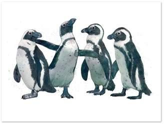 Original Penguin Party Printed Wall Art Size/Framing: 42 x 60cm, Unframed Print