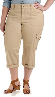 1df9cc7da8e Lee Women s Plus Size Relaxed-fit Austyn Knit Waist Capri Pant