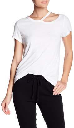Pam & Gela Cold Shoulder Short Sleeve Tee