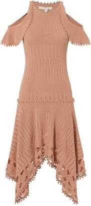 Jonathan Simkhai Crochet Handkerchief Hem Dress