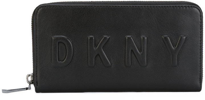 DKNYDKNY debossed logo zip-around wallet