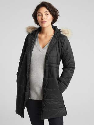 Gap Maternity Longline Hooded Puffer Jacket