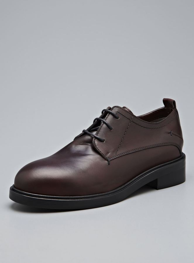 CNC Costume National Leather Oxford Lace Up Shoe