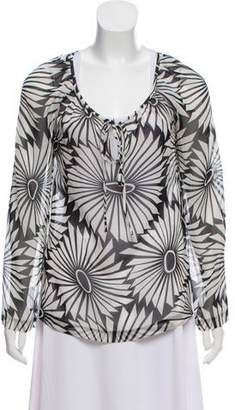 Trina Turk Silk Short Sleeve Top