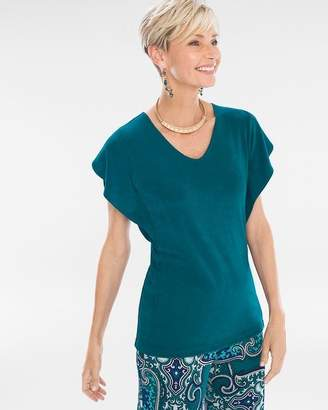 Of the Moment Travelers Classic Flutter-Sleeve Top