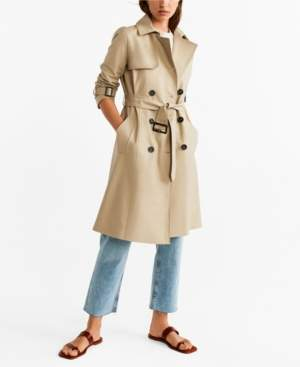 MANGO Belted Trench Coat