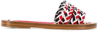 Thom Browne Braided Grosgrain Slide Sandal