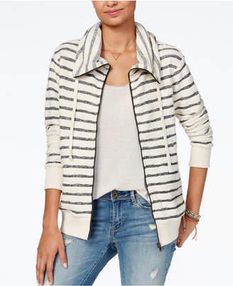 Roxy Juniors' Cotton Striped Zip-Up Sweatshirt
