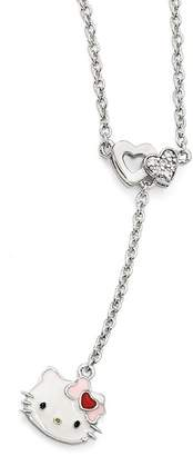 Hello Kitty Sterling Silver Heart Bow Necklace