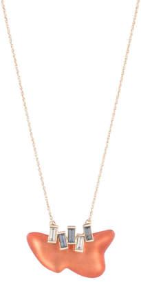 Alexis Bittar Dancing Baguette Freeform Pendant Necklace