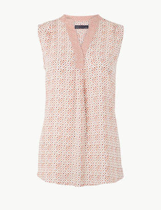 Marks and Spencer Printed Shell Top