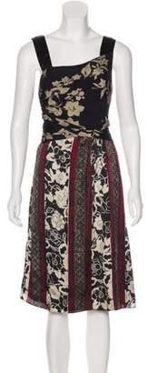 Etro Satin Floral Dress