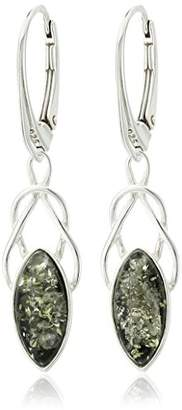 Celtic Amber Sterling Silver Earrings