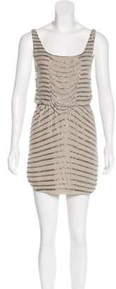 Alice + Olivia Sleeveless Embellished Dress