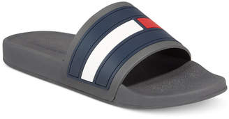 Tommy Hilfiger Men's Elwood Slide Sandals, Created for Macy's Men's Shoes $40 thestylecure.com